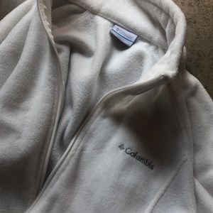 White Colombia zip up